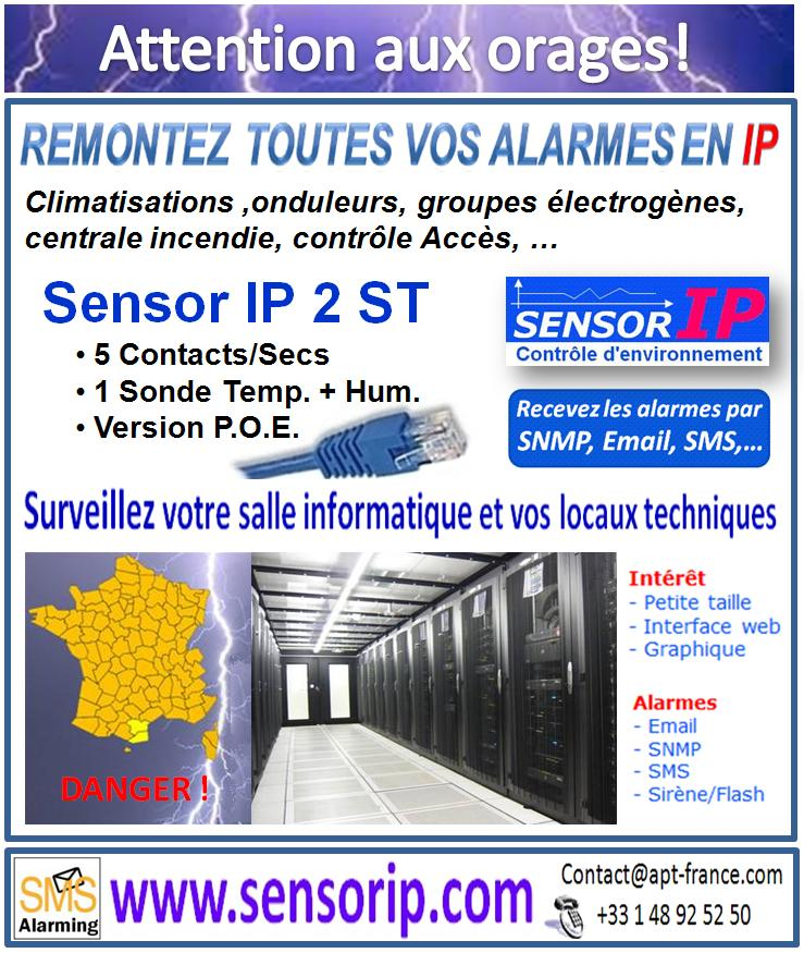 Attention aux orages remonter alarmes informatique en IP