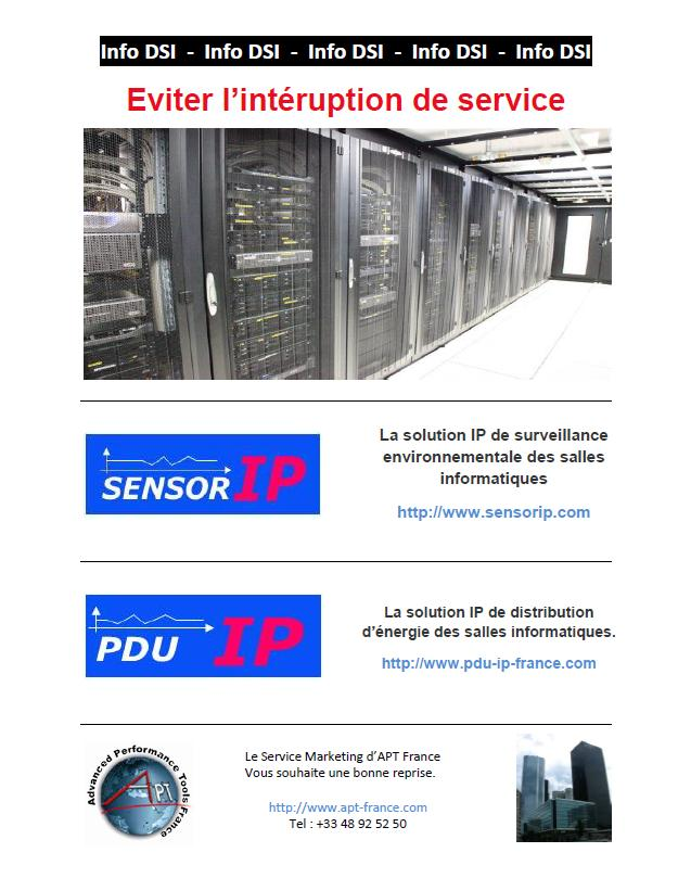 eviter intruption de service Sensor IP PDU IP