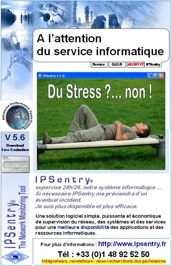sans stress supervise systme informatique IP Sentry